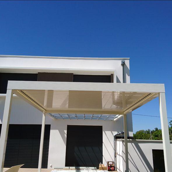 Pergola bioclimatique blanche - Orilon.fr